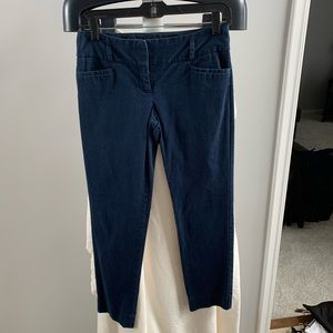 The Limited crop drew fit navy blue size 0